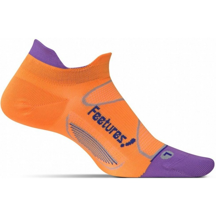 Feetures! Elite Ultra Light Cushion No-Show Tab - Large, Firecracker/Iris - Feetures!